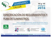 SEMINARIO-TALLER: ESPECIFICACIÓN DE REQUERIMIENTOS Y PLAN DE SUMINISTROS